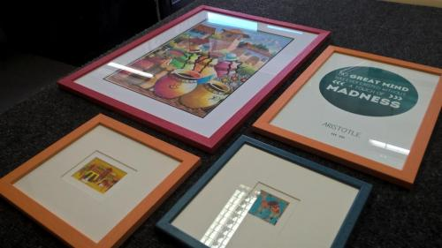 Brightly coloured frames