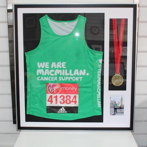 London Marathon medal & vest