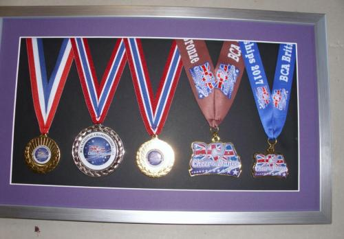 Several years worth of Cheer & Dance awards