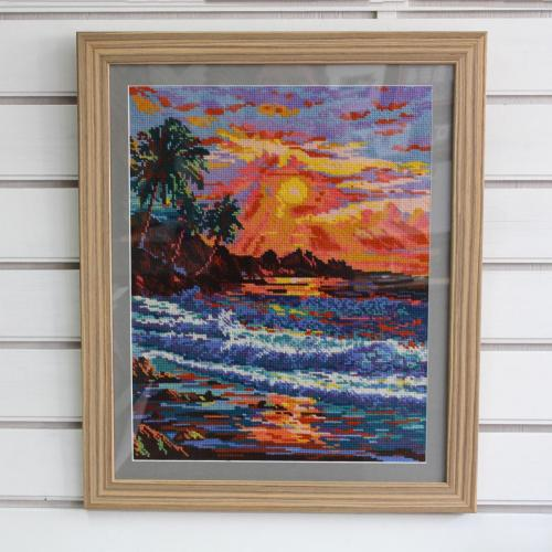 X-stitch sunset
